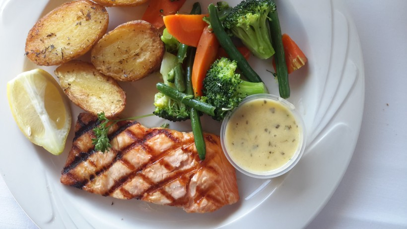 Salmon and potatoes
