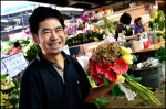 at the flower market-for you, just for you, with a smile